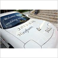 カッティングシート用途例:車の広告やドレスアップに!